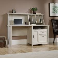 Sauder Armoire Computer Desk 419088 Edge Water Chalked Chestnut Computer Desk With Hutch