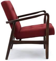 60s style furniture mid century modern armchair retro 50s 60s style chair red living