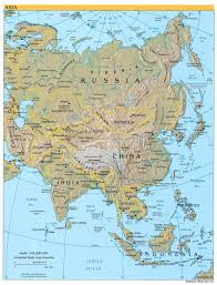 Countries In Asia Map by Detailed Relief And Political Map Of Asia Asia Detailed Relief