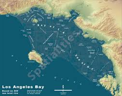 Map Of City Of Los Angeles by Los Angeles After The Ice Caps Have Melted