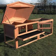Rabbit Hutch Wood Two Tier Verona Rabbit Hutch With Run Wood House Pet Bunny Ferret