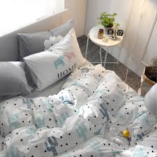 White Cotton Bed Linen - aliexpress com buy ins nordic white cactus bedding set geometric