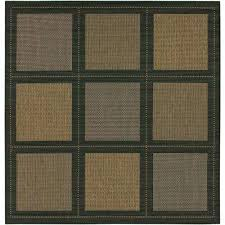 Square Indoor Outdoor Rugs Square Black Outdoor Rugs Rugs The Home Depot