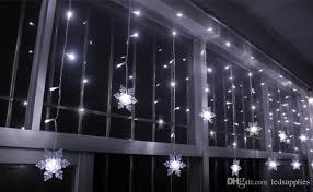 chasing snowflake christmas lights 3 5m 100led snowflake led curtain string lights l garden
