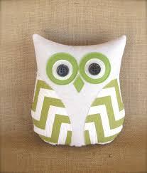 Nursery Decorative Pillows Owl Pillow Avocado Green Beige Chevron Pillow Home Decor Green