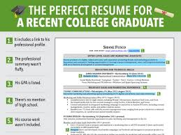 resume sles for no experience students web excellent resume for recent grad business insider