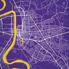 Map Of Baton Rouge Baton Rouge Louisiana Map Art City Prints