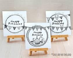 Doodle Birthday Card Sets Of 3 Half Fold Greeting Cards Happy Birthday Doodle