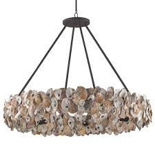 Ring Chandelier Oyster Shell Coastal Ring Chandelier Kathy Kuo Home