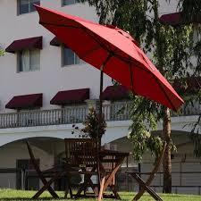 Patio Umbrella Frame Abba 11 Ft Octagon Patio Umbrella With Adjustable Tilt Aluminum