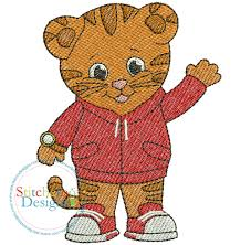 daniel the tiger filled embroidery design