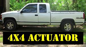 1995 chevy k1500 4x4 thermal to motorized actuator upgrade youtube