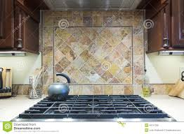 expensive stove and backsplash stock photo image 49747289