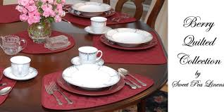 quilted placemats for round tables sweet pea linens berry wine burgundy burgandy solid quilted