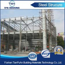 china 2 floor prefabricated steel structure frame house building