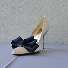 navy blue satin ribbon navy blue satin ribbon bow shoe set of two more colors