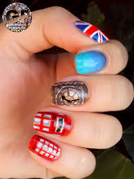 British Flag Nails Best Nail Art London Nail Art Supplies London Dphim