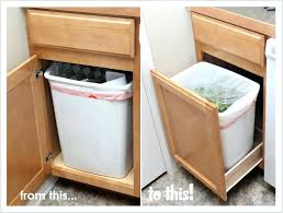 trash can drawer diy trash can drawer pull convert a cabinet into