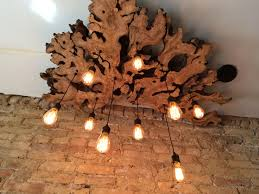 Chandelier Covers Sleeves Hand Made Large Live Edge Olive Wood Chandelier With Edison Bulbs