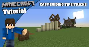 minecraft tutorial how to build easy building tips tipstricks