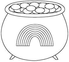 rainbow pot gold coloring pages coloring