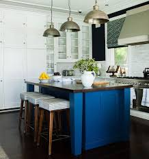 blue kitchen island kitchen with navy walls contemporary kitchen