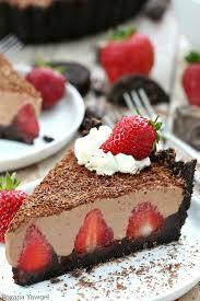 no bake strawberry chocolate pie recipe