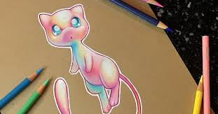 color pencil art creates holographic pokémon with her middle tone