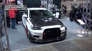 widebody evo mitsubishi lancer evolution x varis wide body kit youtube