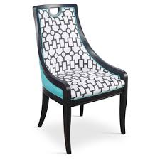 turquoise deco side chairs pair dining from one kings lane