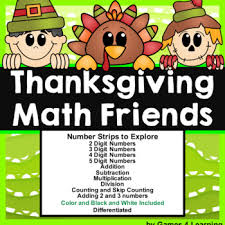 thanksgiving math activities thanksgiving place value and number