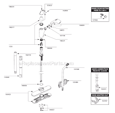 moen single handle kitchen faucet cartridge moen 7560c parts list and diagram after 1 11