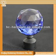 Finials For Curtain Rod Crystal Glass Finials For Curtain Rods Crystal Glass Finials For