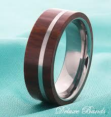 wood inlay wedding band wood inlay mens tungsten wedding ring tungsten wood band mens