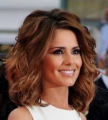 wavy hairstyle for medium length hair with bangs 78 best images