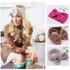 retro headbands 1pc womens crochet bow headband ear warmer knit headbands retro