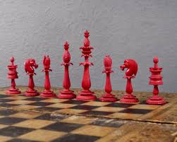ornamental chess set circa 1840 luke honey