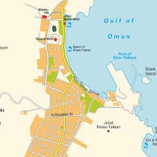 United Arab Emirates Map Khawr Fakkan United Arab Emirates Cruise Port Of Call