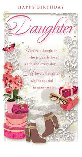 daughter birthday card u2013 happy birthday boots orchid u0026 butterfly