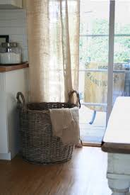 Burlap Looking Curtains Looking Burlap Curtains In Dining Room Traditional With Linen