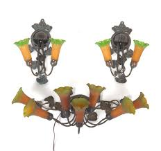 Tiffany Style Wall Sconces Sconce Aspire Auctions