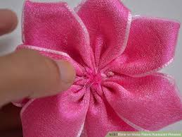how to make fabric kanzashi flowers with pictures wikihow