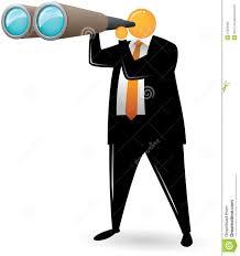safari binoculars clipart orange head man using binocular stock photography image 15622992