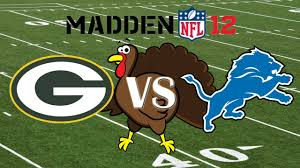 lions thanksgiving day game 2011 turkey day game madden 12 green bay packers vs detroit