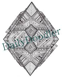 coloring page geometric diamond instant download