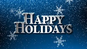 happy holidays with snowflakes animation loop motion background