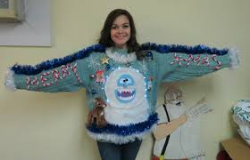 light up ugly christmas sweater dress custom 3 d furry fuzzy furry the abominable snowman reindeer light
