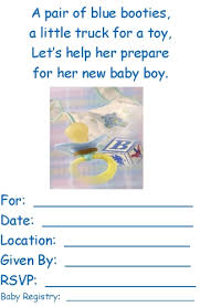 boy baby shower invites template best template collection