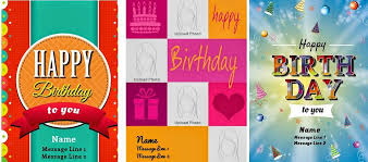 birthday customized card personalized birthday cards slim image