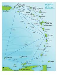 Map Of The Caribbean Islands by Regency Luxury Caribbean Yacht Charters